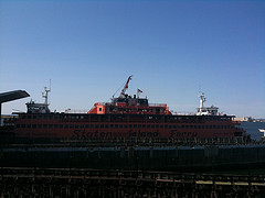 A Look At The Staten Island Ferry From St. George Staten Island.