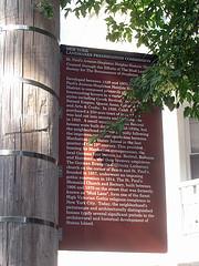 New York Landmarks Commission Sign Marking St Paul's Avenue - Stapleton Heights Historic District
