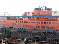 Staten Island Ferryboat -- The Free Trip Between Manhattan And Staten Island Covers 5 Miles In 25 Minutes
