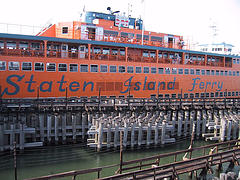 An Image Of The Staten Island Ferry On The Water