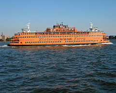 The Staten Island Ferry Travels 25 Minutes, Taking Passengers To Manhattan.
