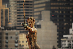 A Sculpture Stands Out At 55th Street.