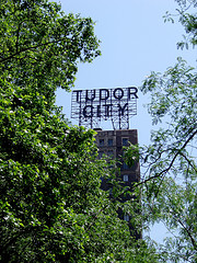 A Sign Overlooks Tudor Street; Featured In The Opening Credits Of 70's Favorite Sitcom