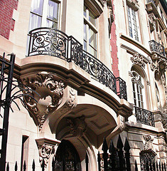 A Balcony And A Stone Building In Upper East Side.