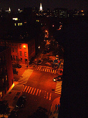 Nighttime View Of The Western Portion Of Greenwich Village Known As The West Village.