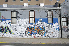 Street Art On A Building In Williamsburg Brooklyn
