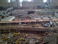 Construction Continues At 1 World Trade Center.
