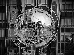 Two Columbus Circle Appearing Was Silvered Color