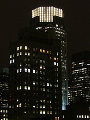 An Image Of 383 Madison Avenue At Night.