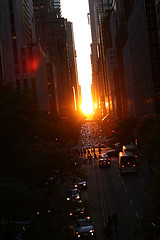 We Can See The Beautiful Sun Set From The 42nd Street In That City