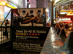 Entrance To The Times Square - 42nd Street Subway Station