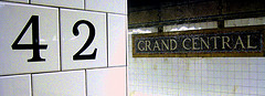 Subway Stop Signs For Grand Central Terminal On 42nd Street