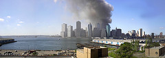 Smoke Raises From The Area Of 4 World Trade Center.