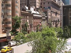 Brick Buildings On Manhattan's 52nd Street Behind The Museum Of Modern Art