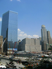 7 World Trade Center And Other Buildings On A Sunny Day