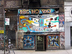 Interestingly Painted Entrance To The Abc No Rio Social Center In New York