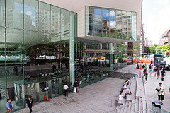 People Gathering At Alice Tully Hall For The Live Concert