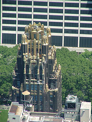 Helicopter View Of The American Radiator Building Built In 1924