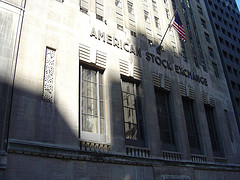 Outside The American Stock Exchange Formerly Known As The New York Curb Exchange.