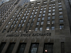 A View Of The American Stock Exchange On A Sunny Day.
