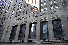 At The Front Of The American Stock Exchange Building