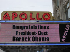 The Apollo Theatre In Harlem Congratulates Barack Obama The Day After The 2008 Presidential Election