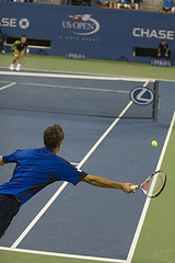 A Tennis Game In Arthur Ashe Stadium