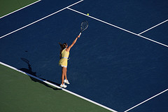 A Tennis Player In Arthur Ashe Stadium