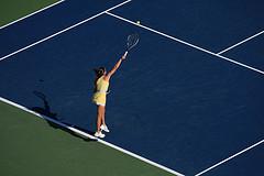A Tennis Player In Arthur Ashe Stadium