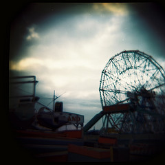 A View Of Astroland At Coney Island.