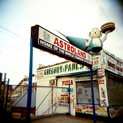 Astroland, Home Of The World Famous Cyclone Amusement Ride, And Many More Amusement Rides, Also Delicious Food!
