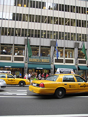 Barnes & Noble Bookstore In New York.