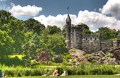 Belvedere Castle, Sitting Upon The Vista Rock With Turtle Pond By The South End