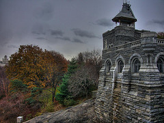 View Of The Belvedere Castle In Park Central New York During Autumn