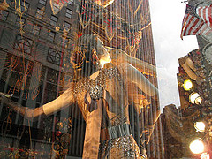 Giant Image Projected Onto The Bergdorf Goodman Building New York City