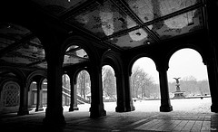 Looking Towards The Fountain In Central Park's Bethesda Terrace
