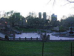 People Gather In Bethesda Terrace