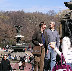 People Enjoy Their Day At Bethesda Terrace