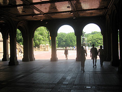 View Of Angel Of The Waters Fountain, Bethesda Terrace, Central Park