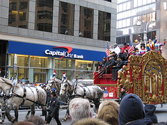 The Big Apple Circus Passes In Front Of Citibank.