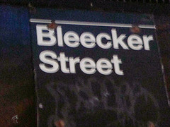 Sign Board Welcoming Us To Bleecker Street !!, Famous As The Greenwich Village Nightclub District
