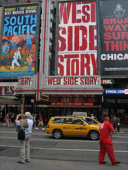 One Famous Stretch Near Times Square, Where Broadway Crosses Seventh Avenue In Midtown Manhattan