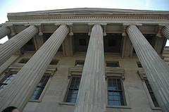 Huge Columns Dominate The North Facade Of The Brooklyn Borough Hall