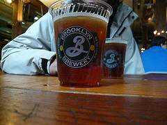 A Beer Served At The Brooklyn Brewery