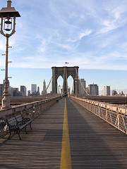 Cross The Brooklyn Bridge Without A Car �?? Rest On One Of Its Beautiful Benches