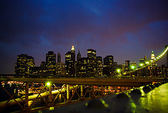 The Brooklyn Bridge Walkway Offers A Memorable View Of Lower Manhattan