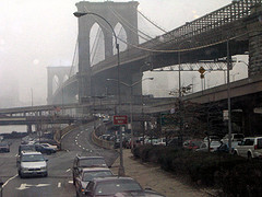 The Streets Are Full And View Is Still Amazing Looking Back At The Brooklyn Bridge.