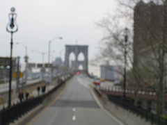 A Look Down The Long Road That Is The Brooklyn Bridge.