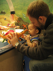 A Father Plays With His Child At Brooklyn Children's Museum.