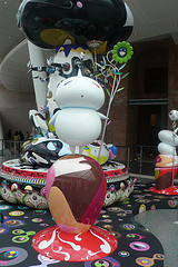 Takashi Murakami Sculptures On Display In Career Retrospective At The Brooklyn Museum